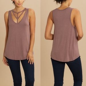 MINA Relaxed Fit Top - MOCHA